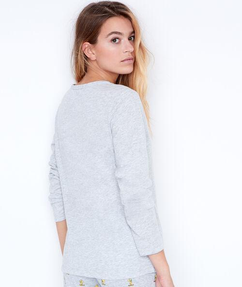 Printed pyjama top