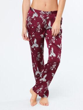 Printed trouser burgundy.