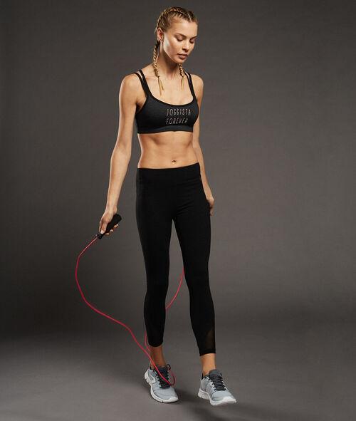 Ultra-Stretch-7/8 Hose mit figurformendem Effekt und Netzeinsatz