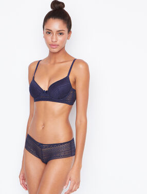 Push-up-bra blue.