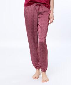 Satine printed pyjama pants burgundy.