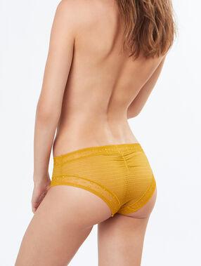 Lace shorts yellow.