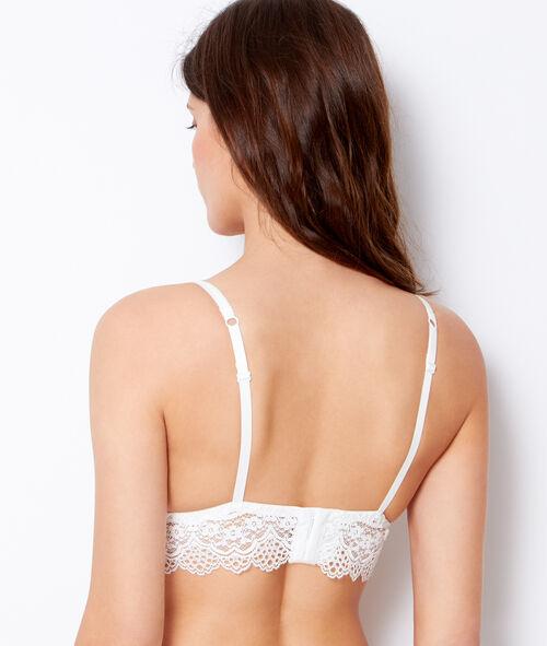 wireless lace triangle bra