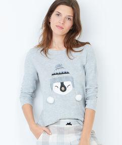Pyjama sweatshirt grey.