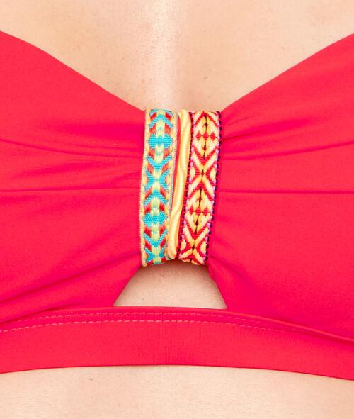 Haut de maillot de bain bandeau façon bustier bracelet aztèque