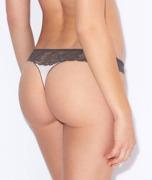 Lace and micro thong