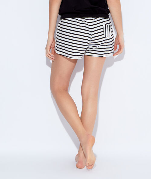 Striped pyjama shorts