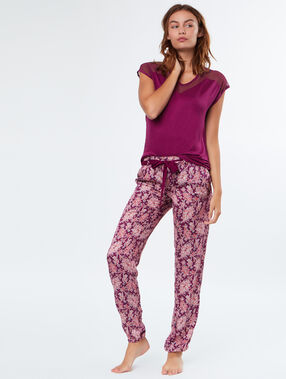 Printed trouser burgundy.