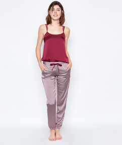 Satine printed pyjama pants burgundy.