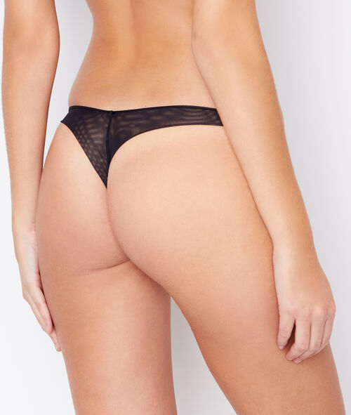 Micro and tulle thong
