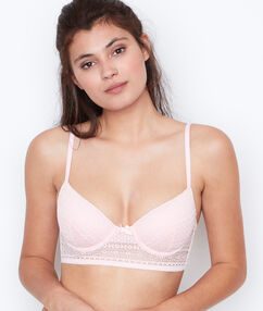Padded demi cup bra pink.