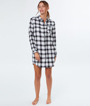 Long pyjama shirt black.