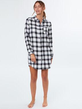 Long pyjama shirt black.