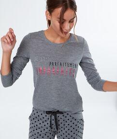 Message t-shirt grey.