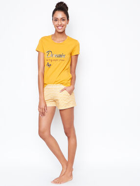 Printed short jaune.
