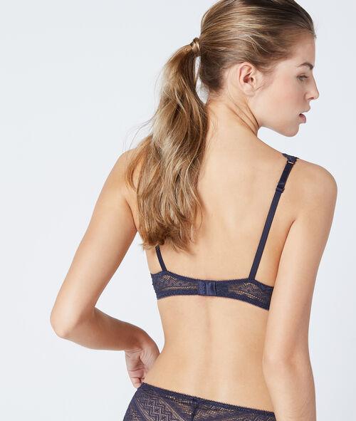 Lace triangle bra