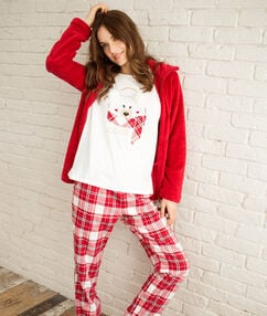 3 pieces pyjama red.