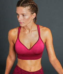 Sports bra purple.