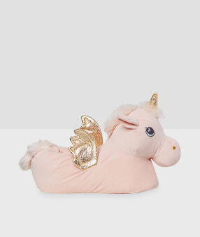 Unicorn slippers pink.