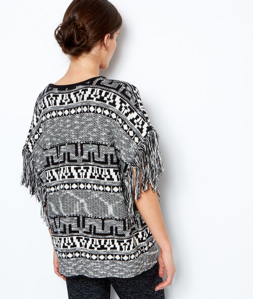 Tribal printed poncho pyjama