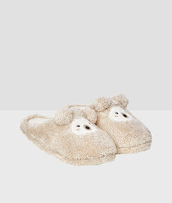 Slippers beige.