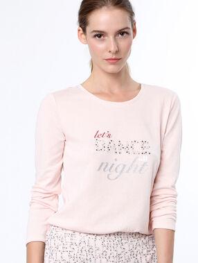 Message t-shirt pink.