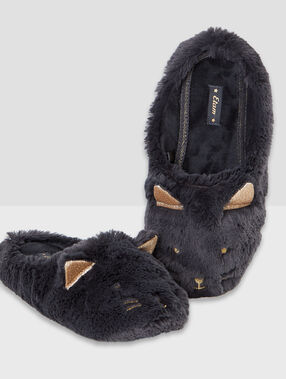 Mouse slippers grey.