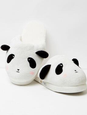 Printed 3d slippers white/black.