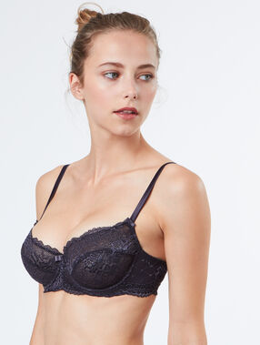 Balconnette bra grey.