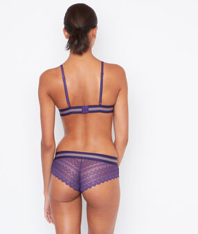 Lace shorts purple.