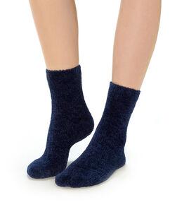 Socken blau.