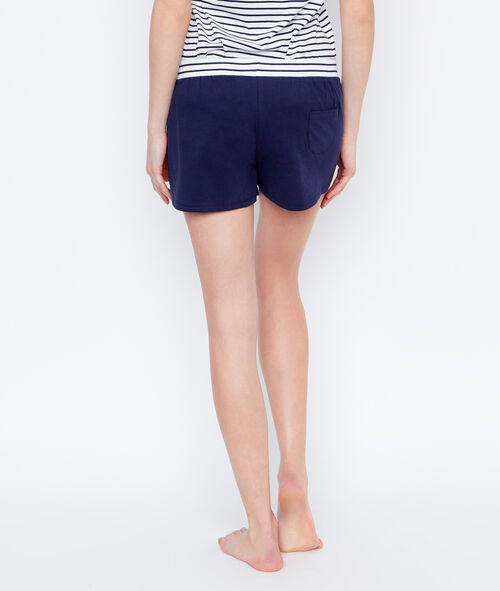 Smiley pyjama shorts