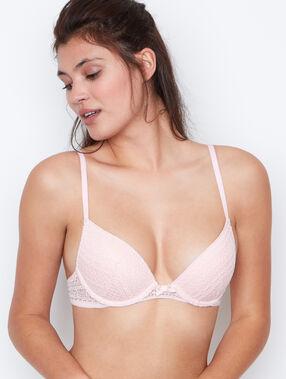 Soutien-gorge push up dentelle pink.