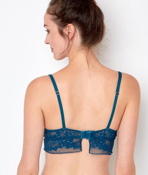 Lace push up triangle bra
