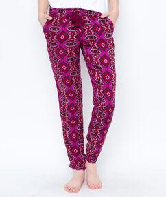 Printed pyjama pants burgundy.