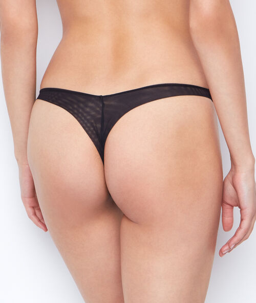 Micro and tulle brief