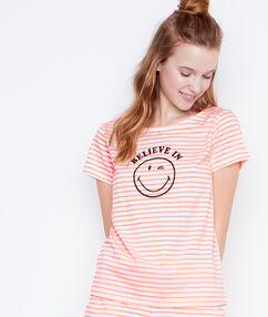 Smiley printed top orange.
