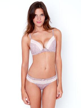 Lace tanga white.