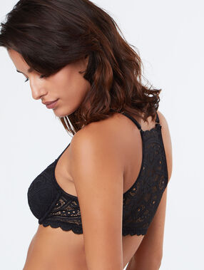 Padded demi cup black.