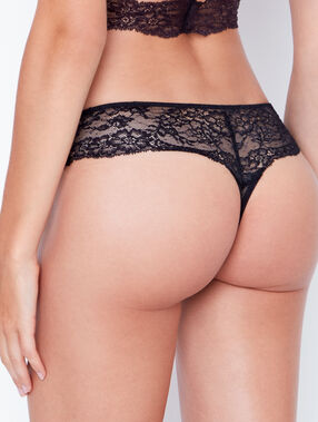 Lace hipster black.
