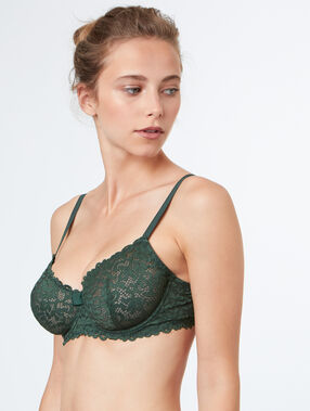 Balconnette bra green.