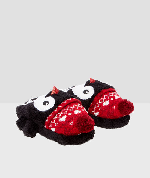 3D penguin slippers