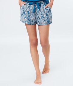 Pyjama short blue.