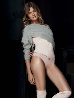 Shoulder wrap sweater grey.