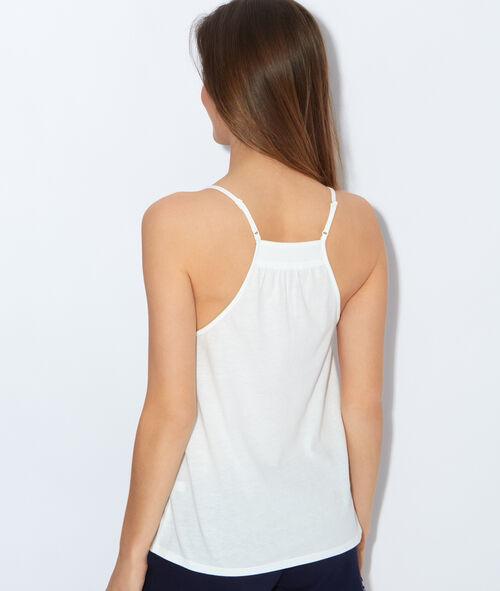 Pyjama top, embroidery detail