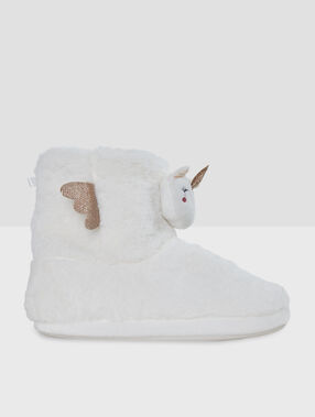 Unicorn slippers off-white.