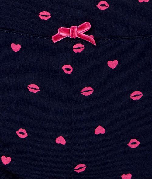 Printed lips pyjama leggings