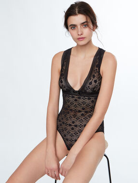 Lace bodysuit black.