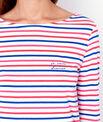 """Je suis divine"" striped pyjama top"