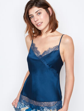 Satine lace top blue.